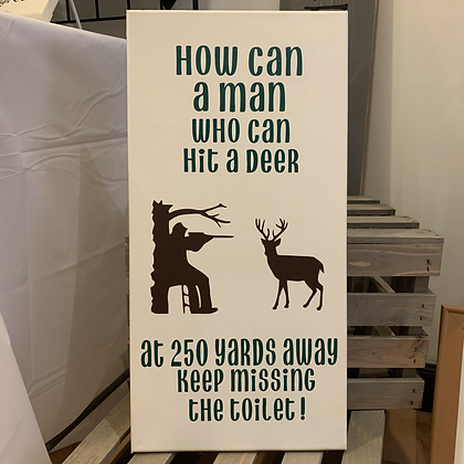 How can a man who can hit a deer...