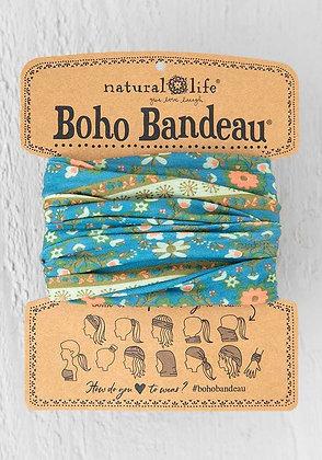 Blue Flower Medallion Boho Bandeau