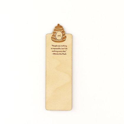 Beehive Wood Bookmark