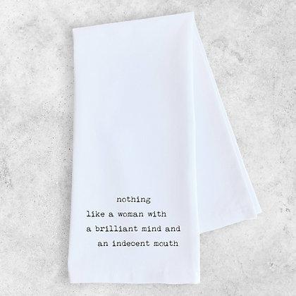 Brilliant Mind, Indecent Mouth Tea Towel