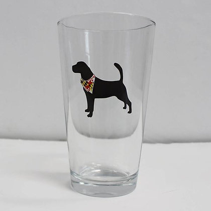 Dog Silhouette Pint Glass