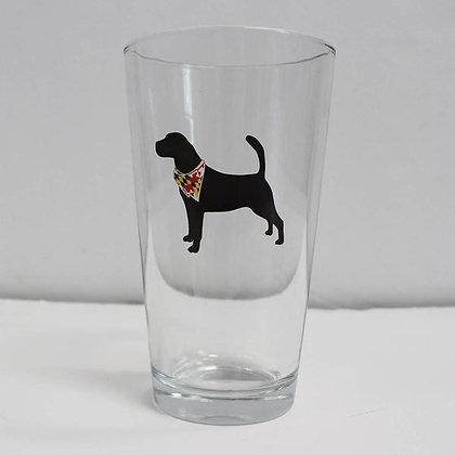 Dog Silhouette Pint Glass