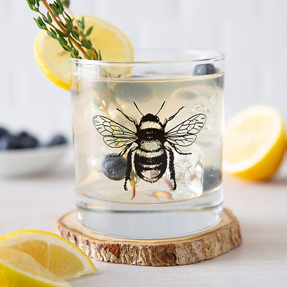 Bee Rocks Glass
