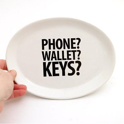 Phone, Wallet, Keys Key Plate