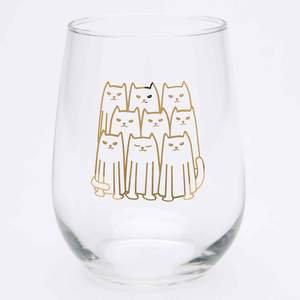 Cats Stemless Wine Glass