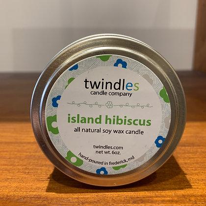 Twindles Candle: Island Hibiscus
