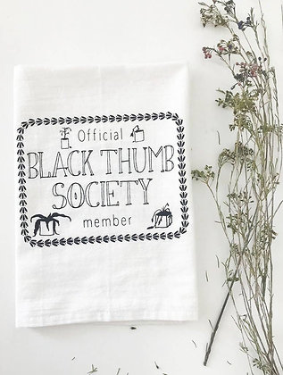 Black Thumb Society Tea Towel