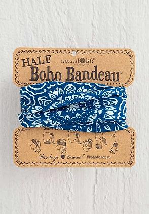 Navy Mandala Half Boho Bandeau