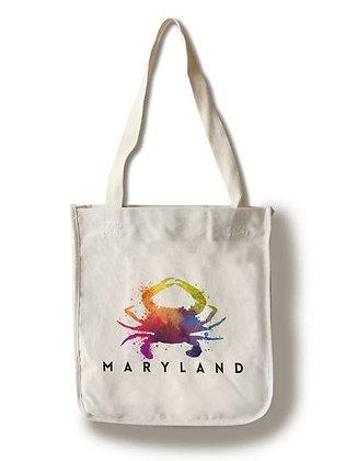 Maryland Crab Rainbow Tote Bag
