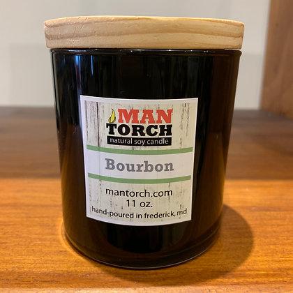 Man Torch Candle: Bourbon