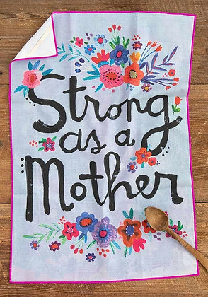 Cotton Dish Towel - Strong as a Mother