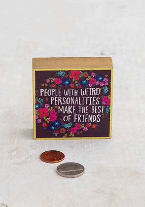 Tiny Block Art: People with Weird Personalities