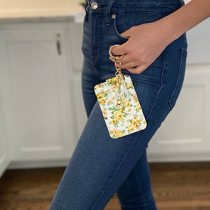Yellow Daisies Wallet Keyring