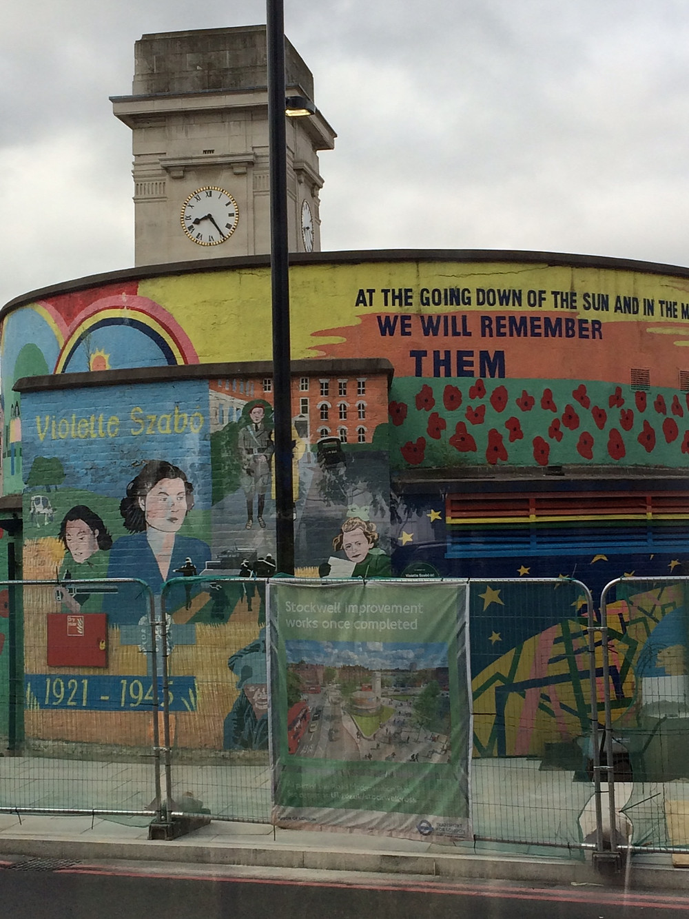 Stockwell world war II memorial and mural