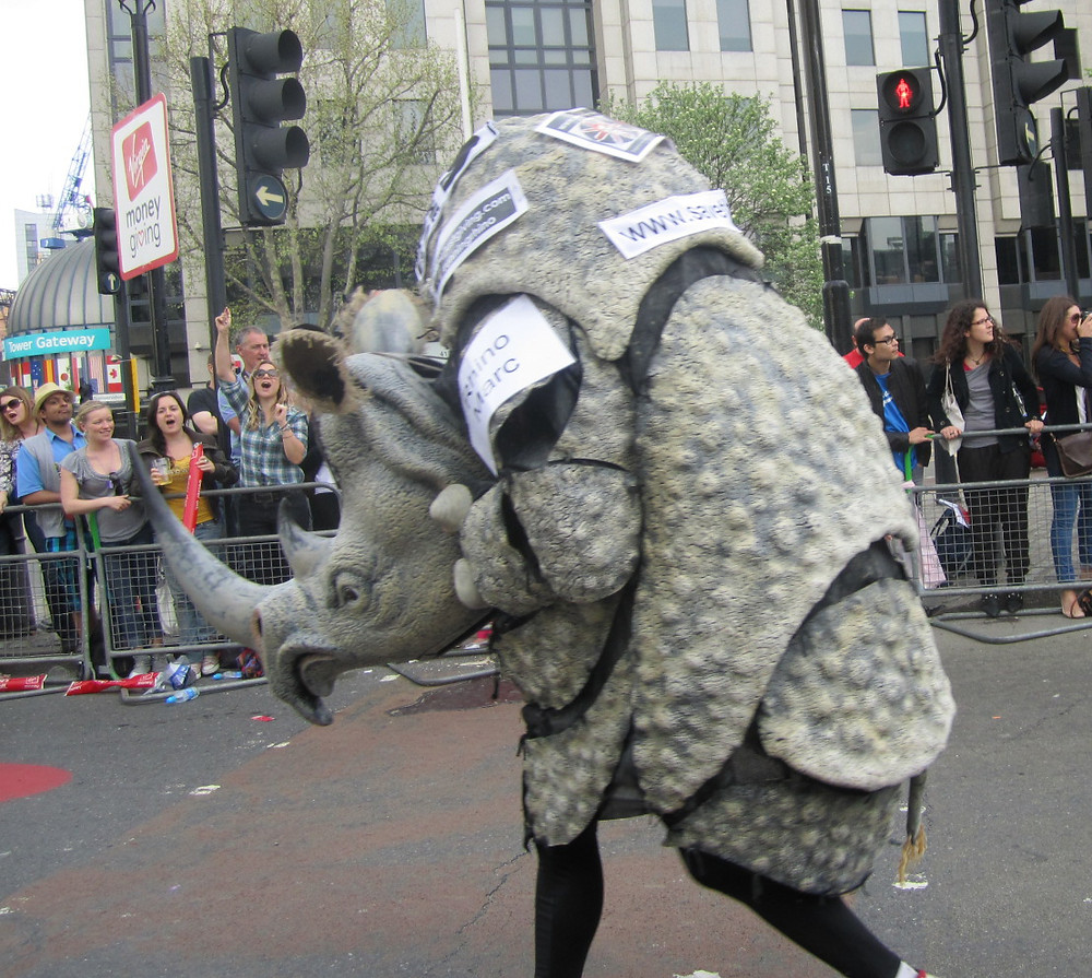 By Annie Mole from London, UK - Rhino - London Marathon 2011Uploaded by Oxyman, CC BY 2.0, https://commons.wikimedia.org/w/index.php?curid=22347350