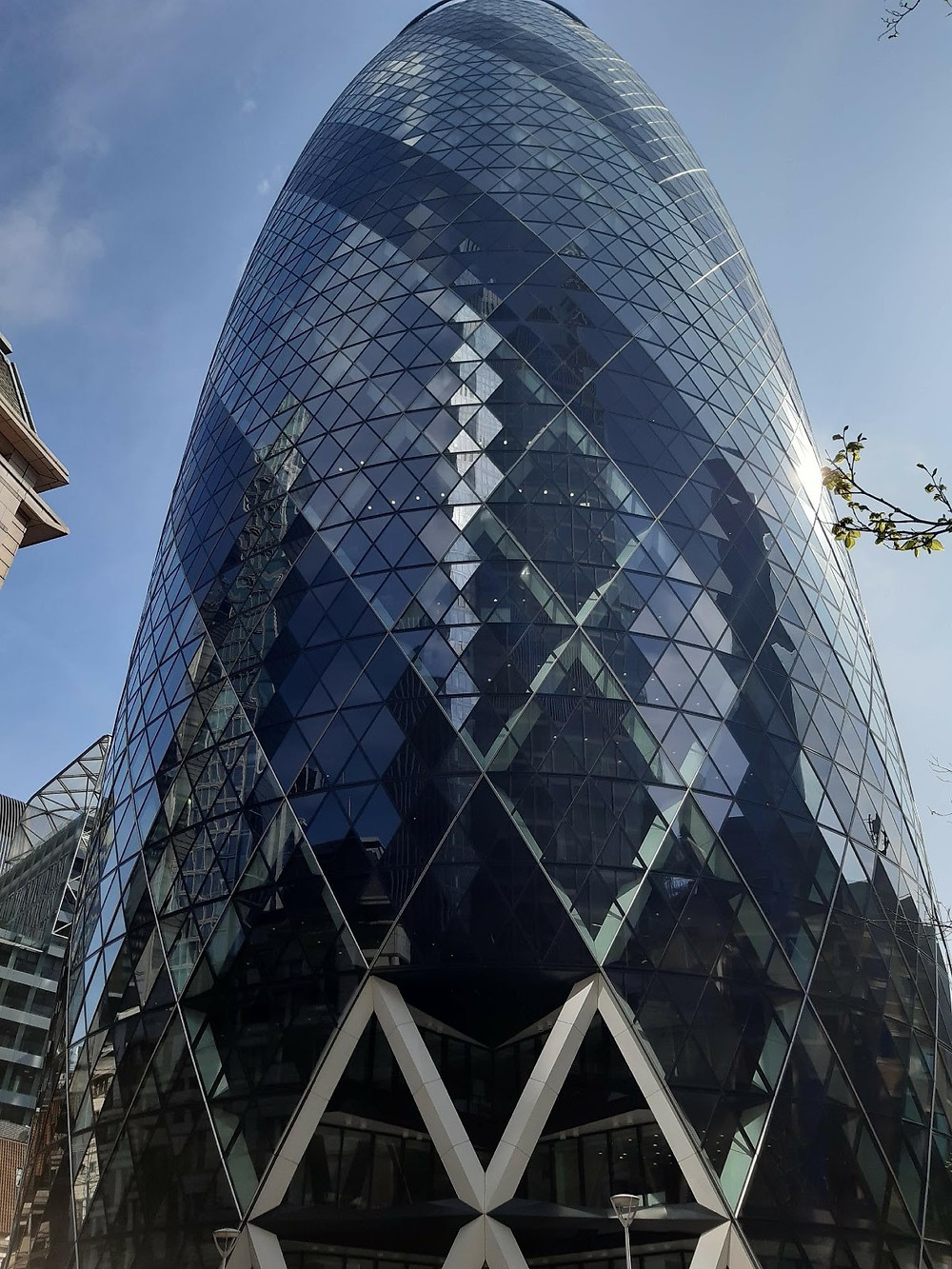 40 St Mary Axe or the Gherkin in the City of London