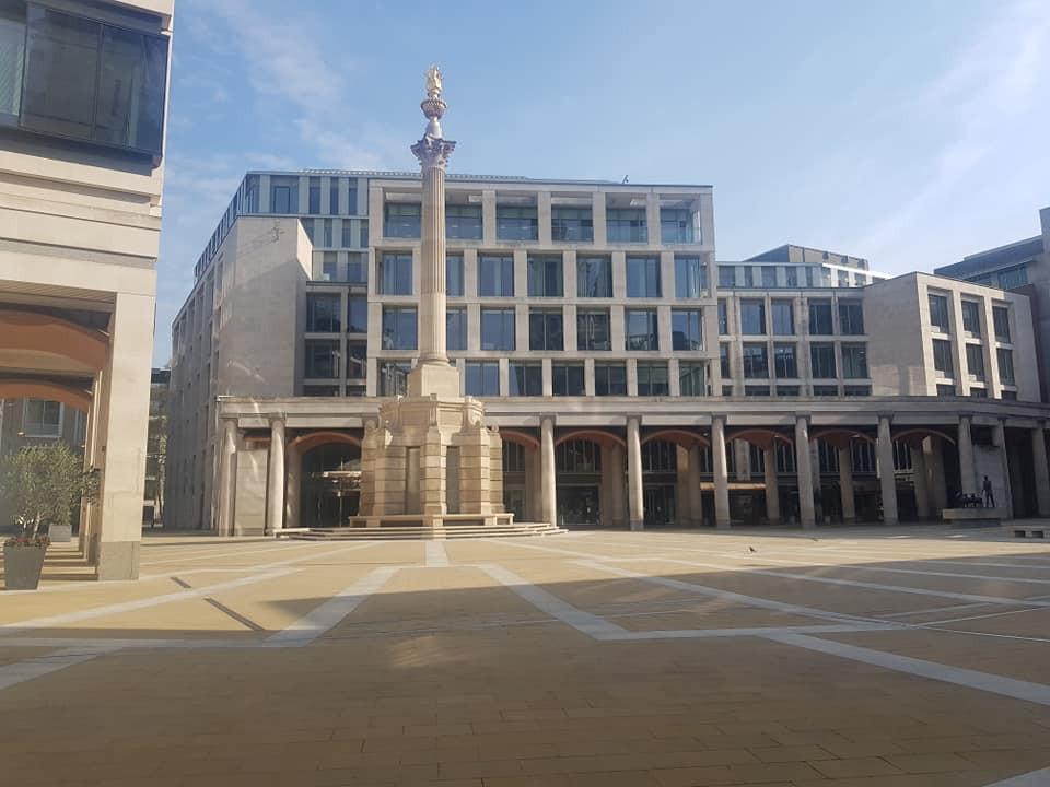 Paternoster Square in COVID-19 lockdown