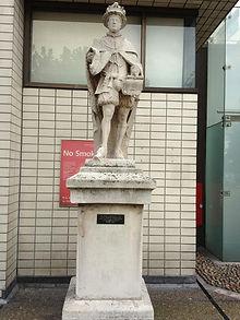Prince Edward statue at St Thomas' hospital London