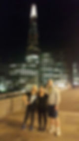 The shard, from the start of our running tour, In the Shadow of the Shard