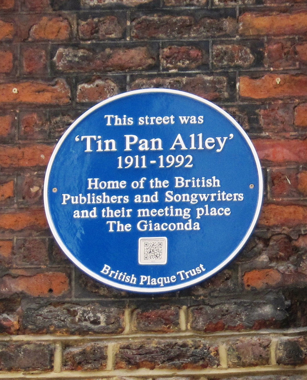 Tin Pan Alley Blue Plaque