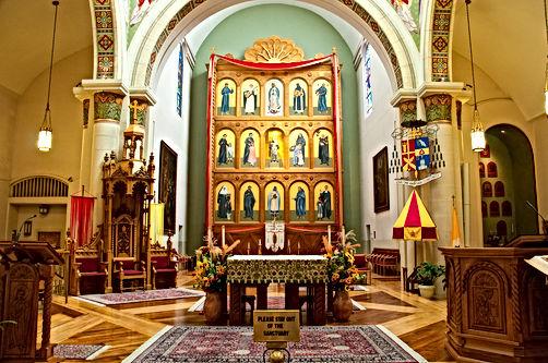Reredos in Cathedral Saint Francis Santa Fe