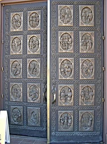 Bronze Door Cathedral Basilica Francis Santa Fe