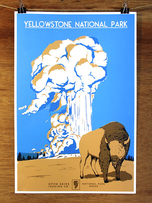 Open Skies National Parks Poster Series: Yellowstone
