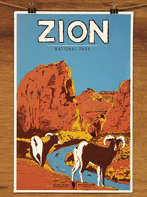 Open Skies National Parks Poster Series: Zion