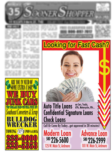 Front Page Ads
