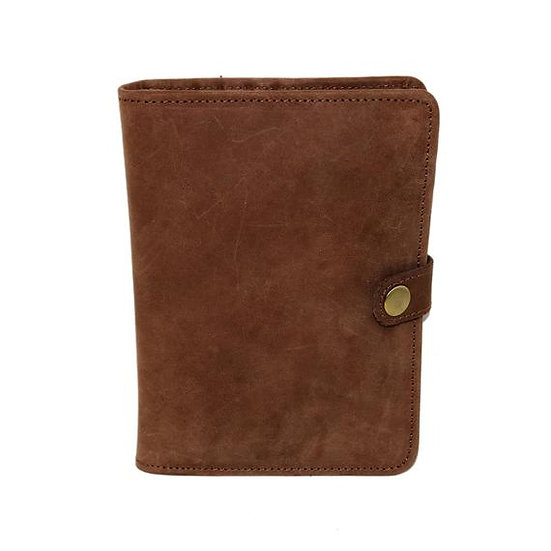 Leather Passport Holder Bifold Cover Travel Wallet Id Documents Holder Gift