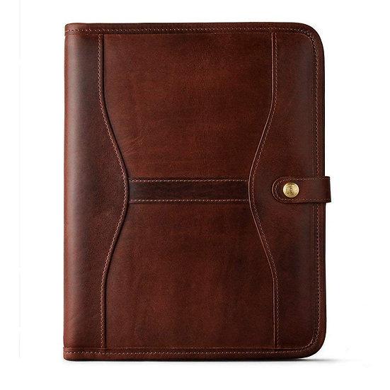 Vintage Leather Portfolio Luxury Business Padfolio Personal File Organizer