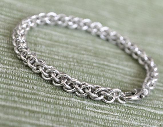 925 Sterling Silver Handmade Jens Pind Weave Bracelet Gift