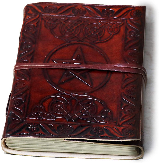 Handmade Large Leather Journal Celtic Embossed Blank Diary