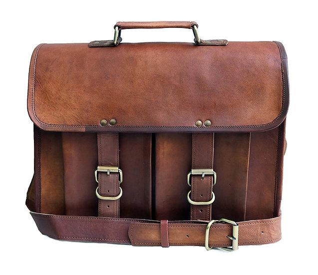 Jaald Leather Messenger Satchel Shoulder 13 15.6 Laptop Bag Briefcase of