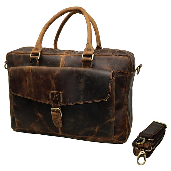 Genuine Leather Messenger Laptop Bag Office Bag for Women Gift for Men