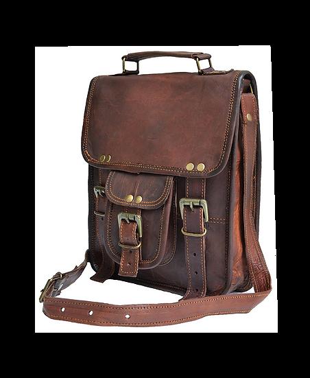 Genuine distressed leather shoulder bag satchel for men messenger bag.