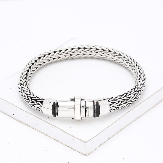 Handmade Stylish 92.5% Bass Sterling Silver Bracelet