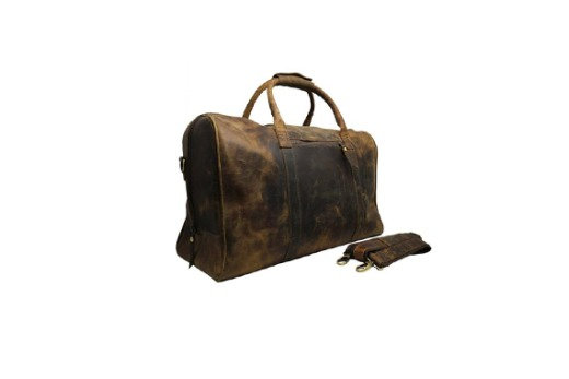 Leather Duffel Bag Vintage Carry On Weekend Bag Large Duffle Luggage Gym Bag