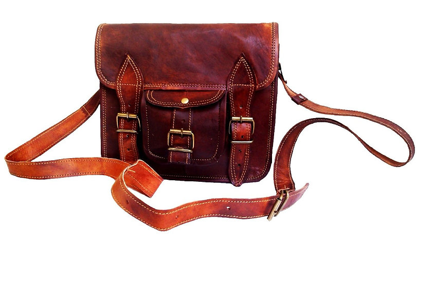"11"" Men's Genuine Leather Small Briefcase Messenger Satchel Ipad Tab Tablet Bag"
