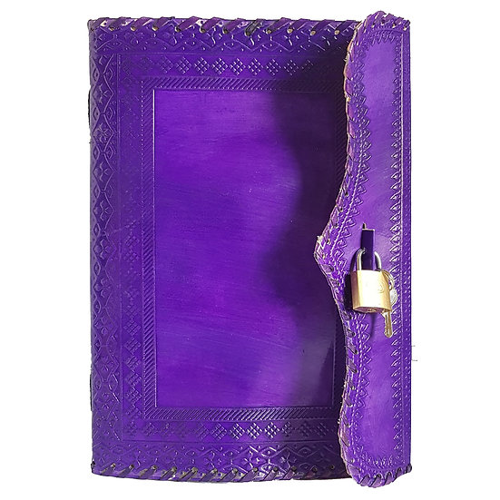 Handmade Genuine Purple Leather Journal Personal Diary Gift For Men Women