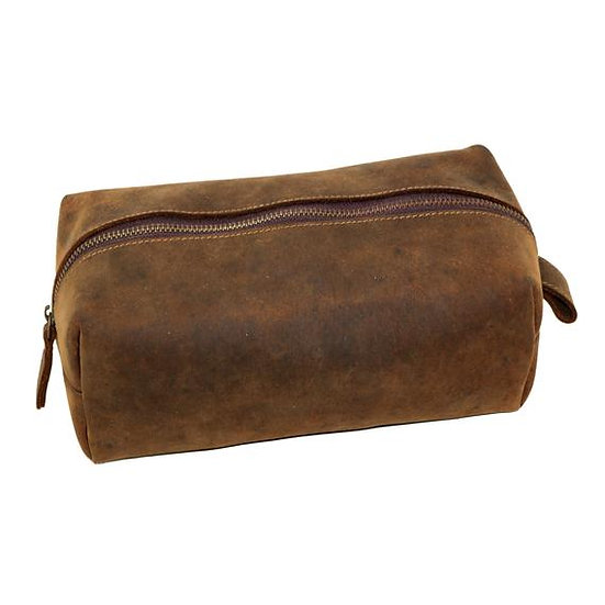 Leather Dopp Kit Toiletry Bag for Men Groomsmen Gift Shaving Utility Bag
