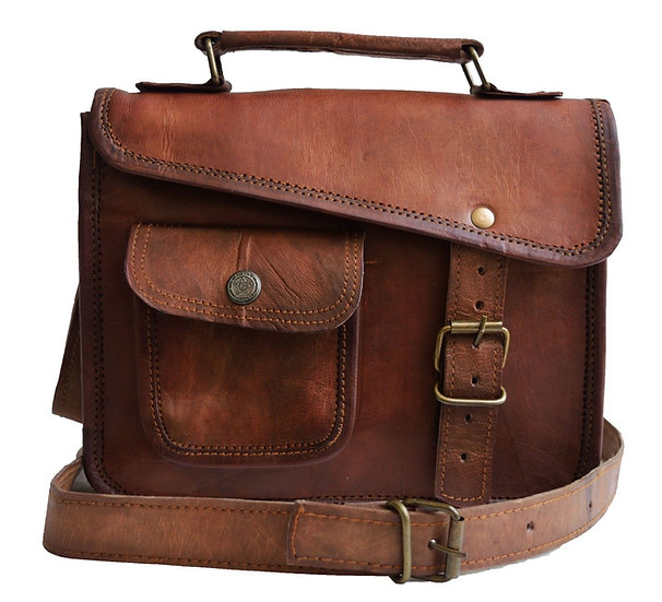 Jaald- Stylish Men's Genuine distressed Leather Brown Shoulder Messenger
