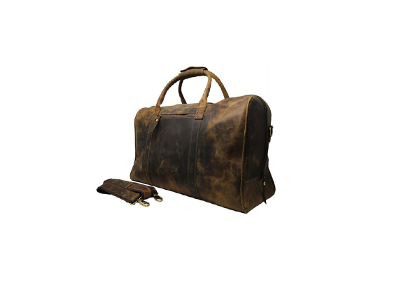 Leather Duffel Bag Vintage Carry On Weekend Bag Large Luggage Gym Bag for Men