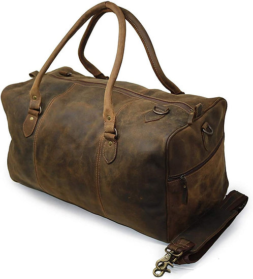 Leather Duffel Bag Vintage Carry On Weekend Bag Large Duffle Luggage Gym Bag