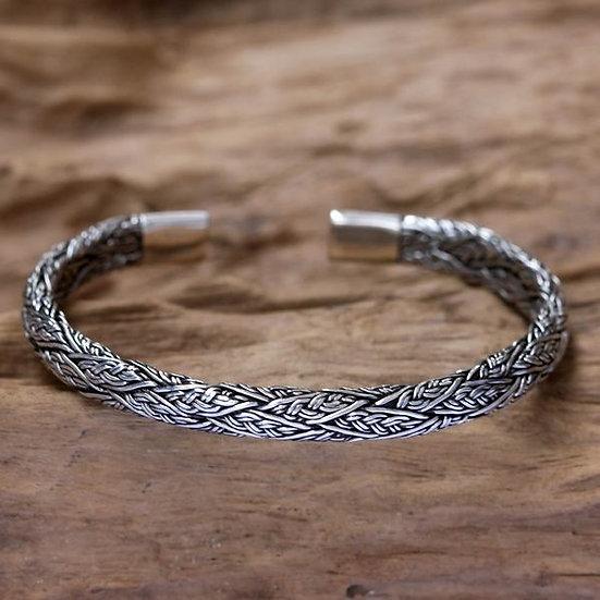 Handmade Men's Sterling Silver 'Warrior' Bracelet Gift