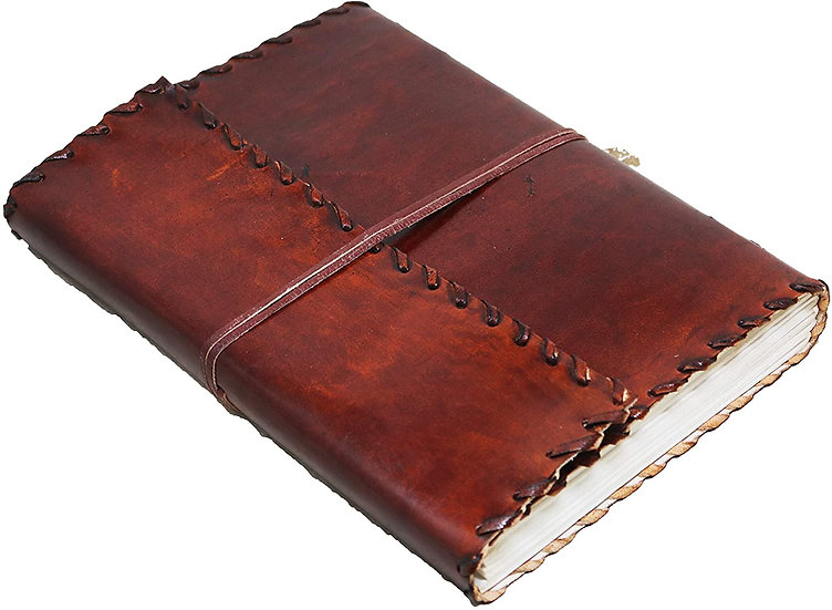Handmade Large Leather Journal  Blank Diary