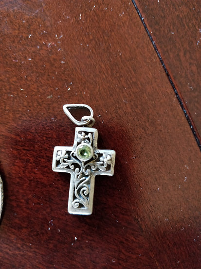 Sterling Silver Cross Chain Necklace for Pendant Retro Style
