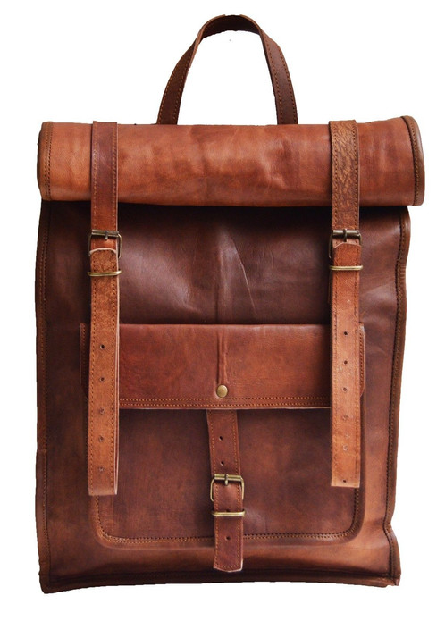 This Leather Laptop Backpack Dimensions Approx 22 X 14 4 Inch Height Breadth Inner Depth