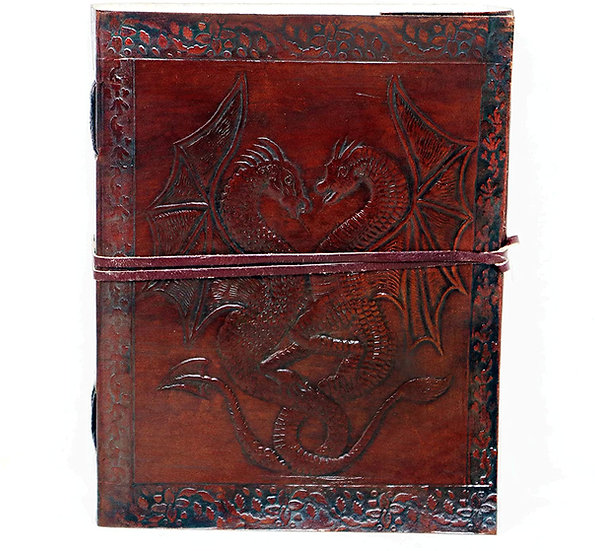 Handmade Large Leather Journal Dragon Embossed Blank Diary