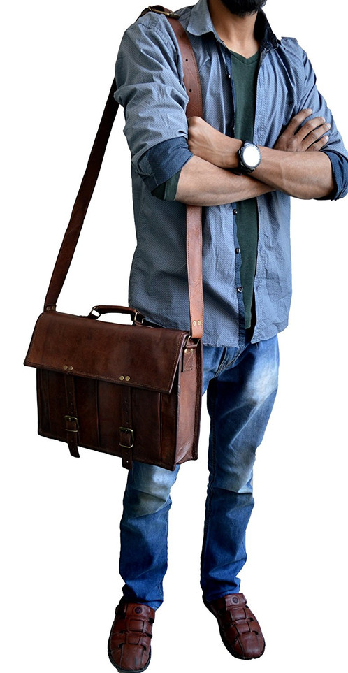 This Laptop Messenger Bag For Men Has Dimensions 10 X15 X 4 Inches Height Width Depth